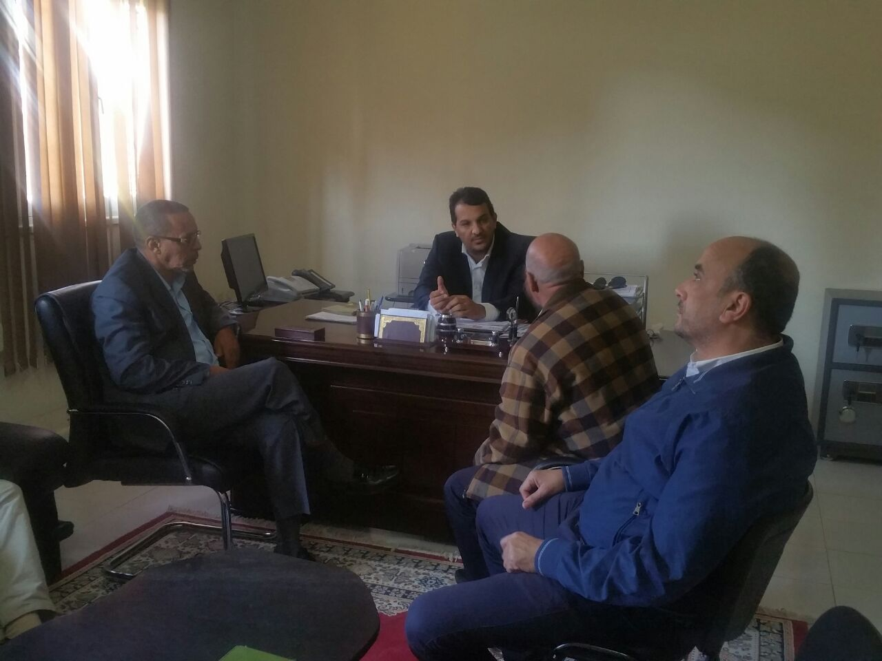 meeting with businessman of layoune