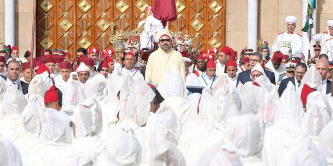 Message de fidélité et de loyalisme à SM le Roi Mohammed VI à l'occasion de la fête du trône 2018