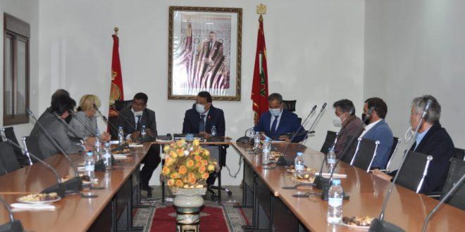 لقاء عمل بين رئيس الغرفة وأعضاء وفد اقتصادي من إقليم الباسك