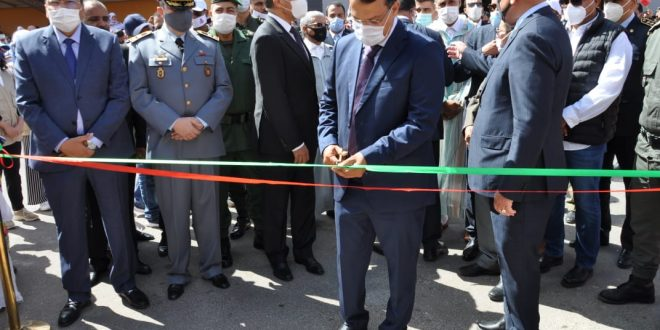 The president of the Chamber Sidi Khalil Ouled Errachid participates in the inauguration of the Big Market for the benefit of the traders of the city of Laayoune